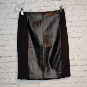 WHBM Mixed Leather Boot Skirt NWT 4